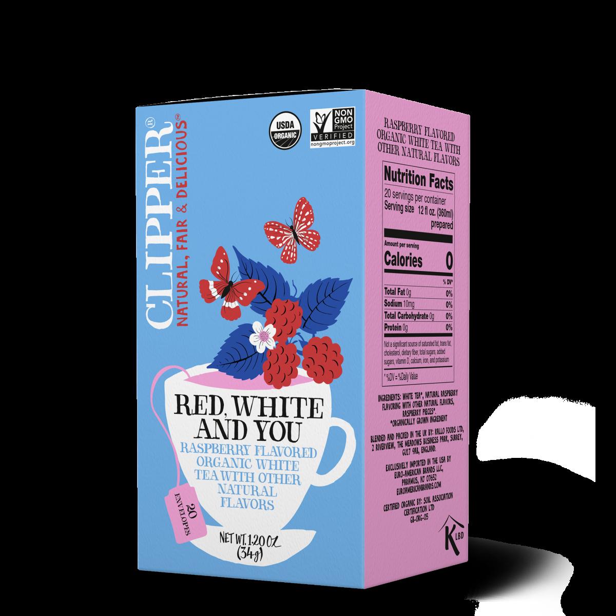 Red White and You organic white tea