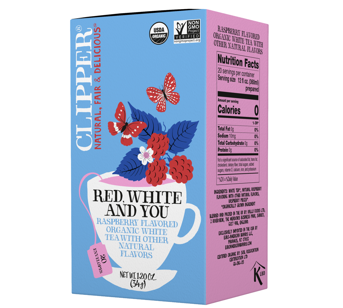 Red White and You organic white tea