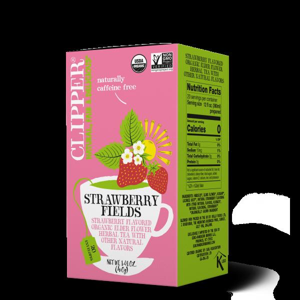 Strawberry Fields organic herbal tea