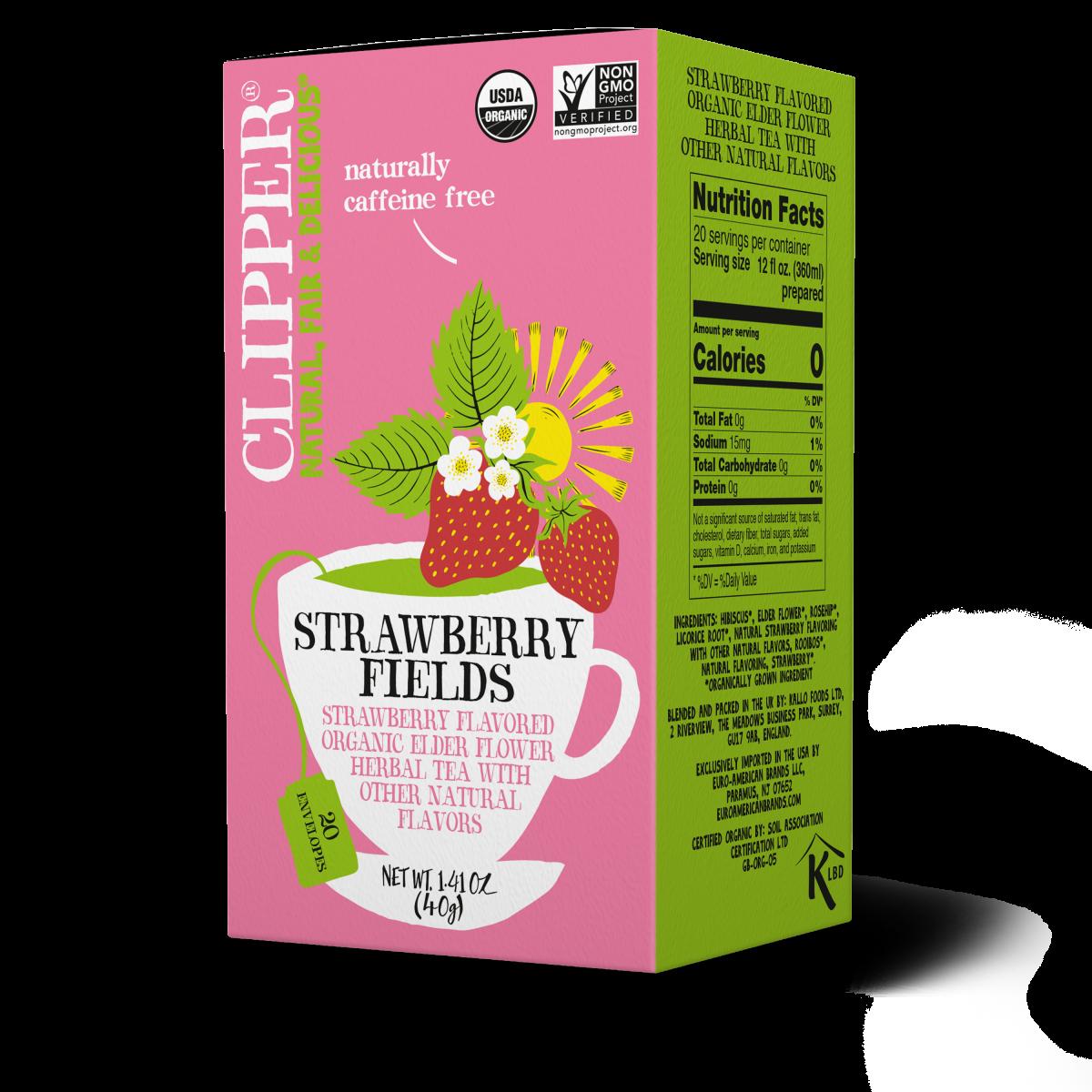 Strawberry Fields organic herbal infusion