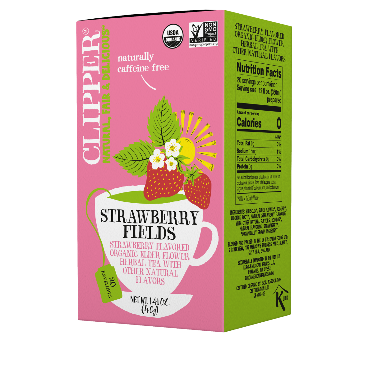Strawberry Fields organic herbal tea