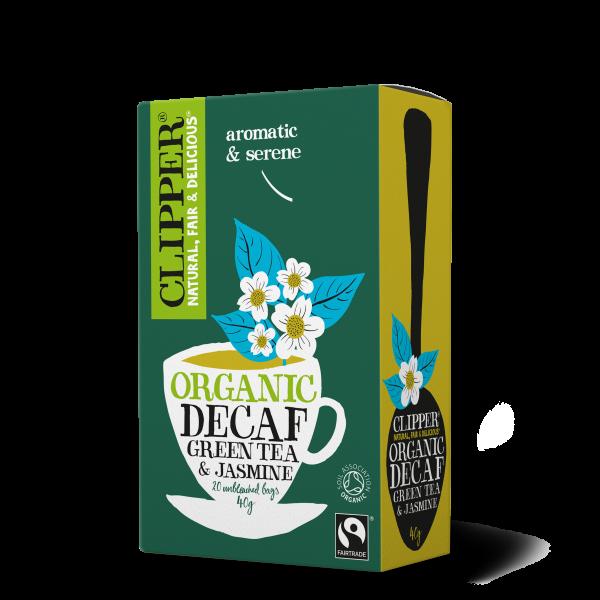 Organic Fairtrade Decaf Green Tea & Jasmine