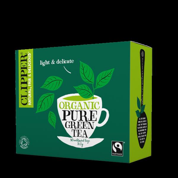 Organic fairtrade pure green tea